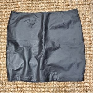 INC International Concept Leather Mini Skirt